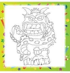 Coloring book - Monster vector image vector image