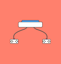 Flat icon design collection children game console vector