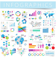 infographics set blue vector image vector image