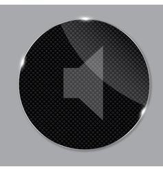 media glass icon vector image