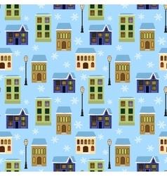seamless houses vector image