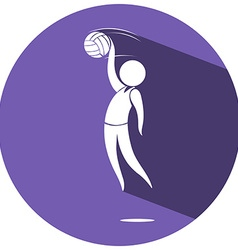 Sport logo design for volleyball vector image