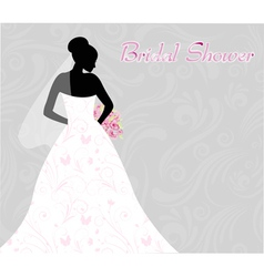 bridal shower vector image vector image