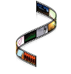 colored filmstrip vector image
