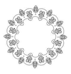 decorative indian round lace ornate mandala vector image