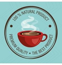 Guarantee label coffee isolated icon design vector