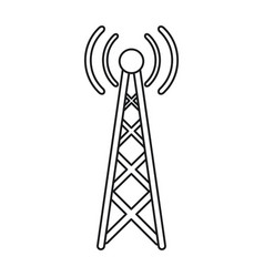 radio antenna transmission mast communication line vector image vector image