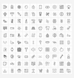 100 universal icons pixel perfect symbols of vector