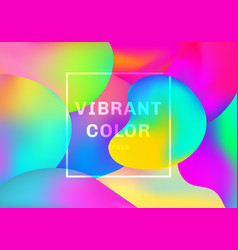 3d liquid or fluid shapes gradient elements vector image