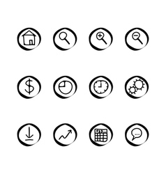 a small set of web buttons vector image