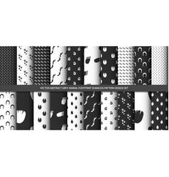 abstract grey animal footprint seamless pattern se vector image