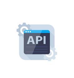 api software integration icon vector image