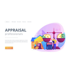 Appraisal services concept landing page vector