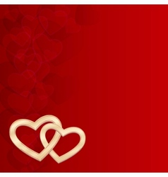background of hearts vector image