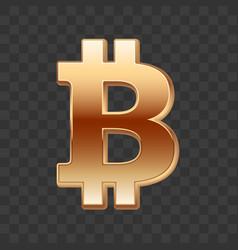 Bitcoin golden sign vector