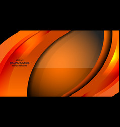 Business modern abstract orange background vector