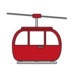 Cableway vector