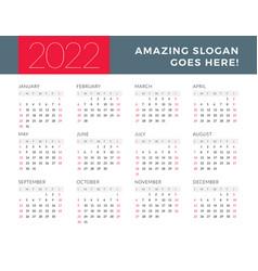 Amazing Calendar 2022.Calendar 2022 Sunday Vector Images Over 1 700