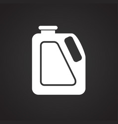Car lubricant canister on black background for vector