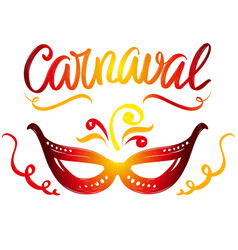 carnival masquerade festive party calligraphic vector image
