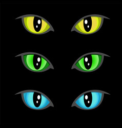 cat eyes vector image