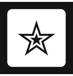 Celestial figure star icon simple style vector