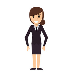 character woman female standing vector image