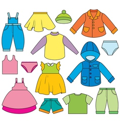 Children clothing vector