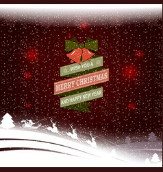 christmas pattern with the silhouette of santa vector image