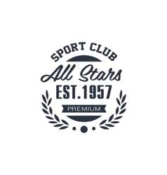 Classic sport label all stars vector