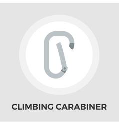 Climbing carabiner flat icon vector