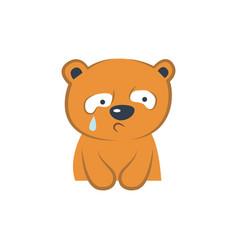 Cute bear crying vector