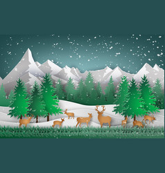 Deer in the forest vector