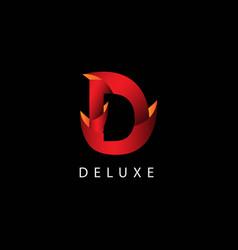 Deluxe logo template design vector
