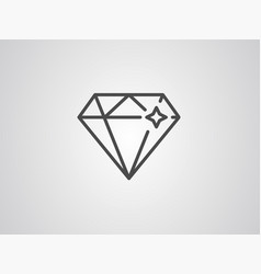 diamond icon sign symbol vector image