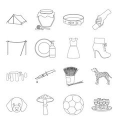 England sport history and other web icon in vector