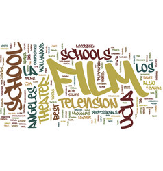film schools in la text background word cloud vector image