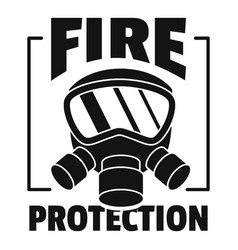 fire protection logo simple style vector image