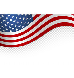 flag american background flag isolated on white vector image