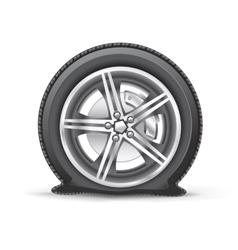 Flat tire vector