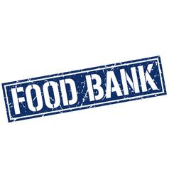 Food bank square grunge stamp vector