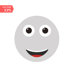 funny smiley simple icon on white background vector image