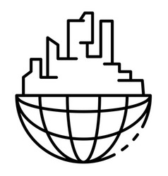 global buildings icon outline style vector image