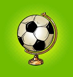 globe international soccer ball football sports vector image