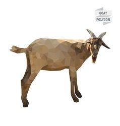 Goat polygon vector