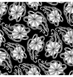 Graphic octopus seamless pattern vector image