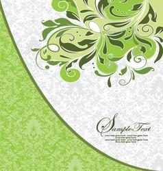 GREEN DAMASK INVITATION CARD vector image
