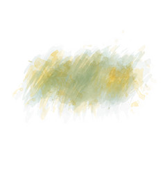 Green watercolor painted stain isolated on white vector