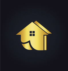 Home realty gold logo vector