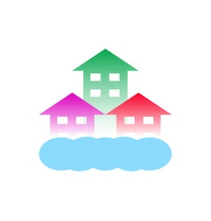 homes with cloud-Logo for construction vector image